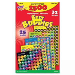 Trend Best Buddies SuperSpots Stickers - 2500 Shape - Assorted