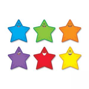 "Trend Classic Accents Shape - 36 Smiley Star - 5.5"" - Assorted"