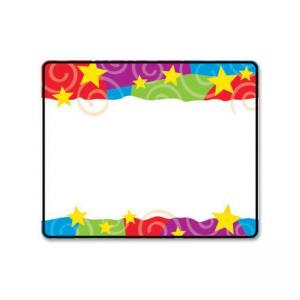 "Trend Stars & Swirls Name Tag - 3"" x 2.50\"" - 36/Pack - Assorted"