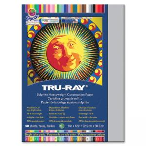 Pacon - Tru-Ray Sulphite Construction Paper - 12in x 9in - Gray
