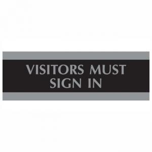 U.S. Stamp and Sign Visitors Must Sign In Sign