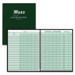 "Ward Class Record Book - Wire Bound - 11"" x 8.50\"" Sheet Size - White - 1Each"