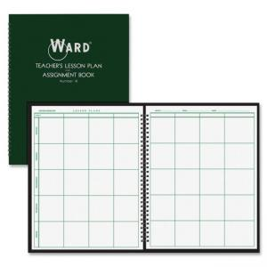 "Ward Teacher\s 8-period Lesson Plan Book - 8.50"" x 11\"" - 9 Month - White, Dark Green"