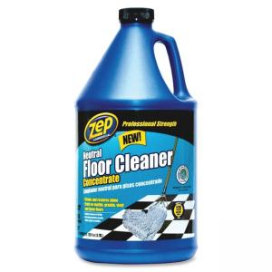 Zep Concentrated Neutral Floor Cleaner - Liquid Solution - 128 fl oz (4 quart) - Blue